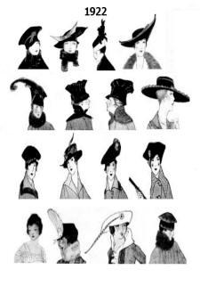 1922 Hat Styles