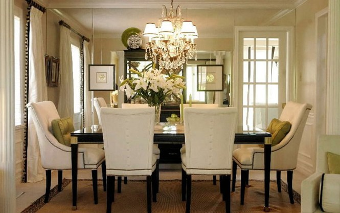 A Chandelier In Modern Day Dining Room