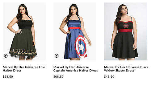 6a2abac4da Last week Torrid (nationwide mall retailer) released a line of nearly sold  out nerdy dresses in a partnership with Her Universe on their website.