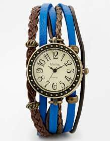 Medley Blue Plaited Leather Watch
