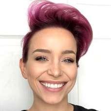 Short Purple Hairstyles 2017 - 5