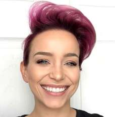 Short Purple Hairstyles 2017 - 5