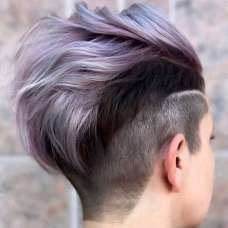 2017 Short Hairstyles Purple - 4