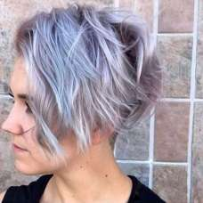2017 Short Hairstyles Purple - 8