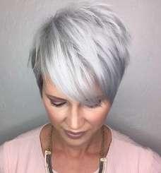 Short Hairstyle Grey Hair - 2