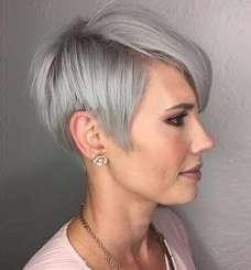 Short Hairstyle Grey Hair - 7