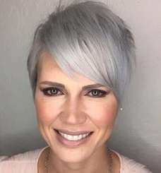 Short Hairstyle Grey Hair - 8