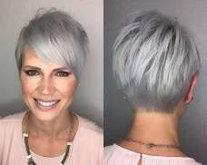 Short Hairstyle Grey Hair - 9