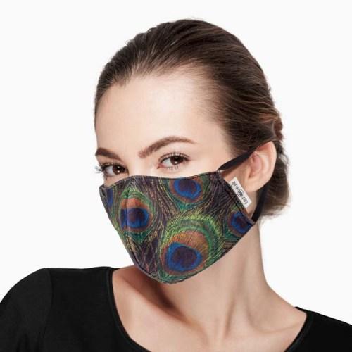 Mascherina Filtrante Mask Pavoni con 3 strati di TNT da 35 gr.