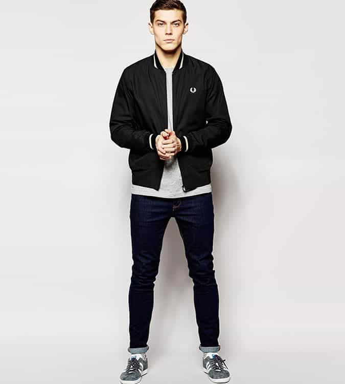 Men's Go-To Outfit Combinations - Sweatshirt With Slim Jeans & A Bomber Jacket