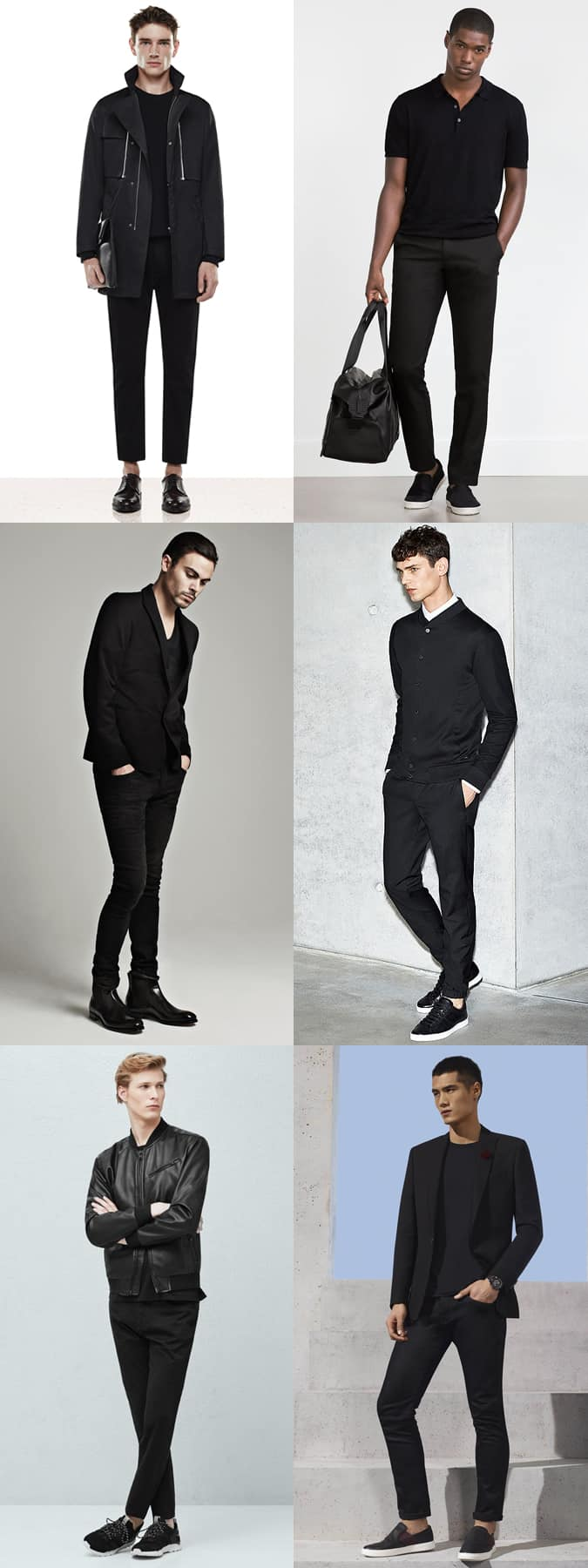 Men's All-Black Outfits Lookbook Inspiration