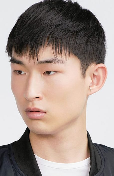 Men's Cropped Hair With Medium Fringe Hairstyle