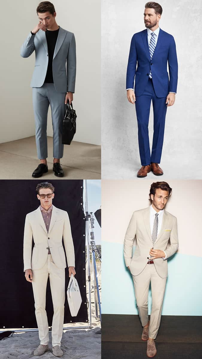 Men's Spring/Summer Occasion Suits Outfit Inspiration Lookbook