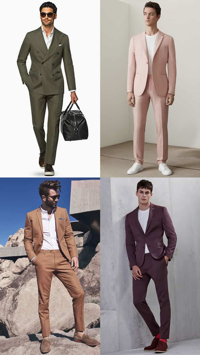 Men's Bold Coloured Suits Outfit Inspiration Lookbook