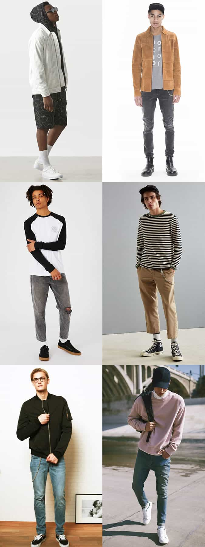How to wear white tube/sports socks, wallet chains and skate accessories