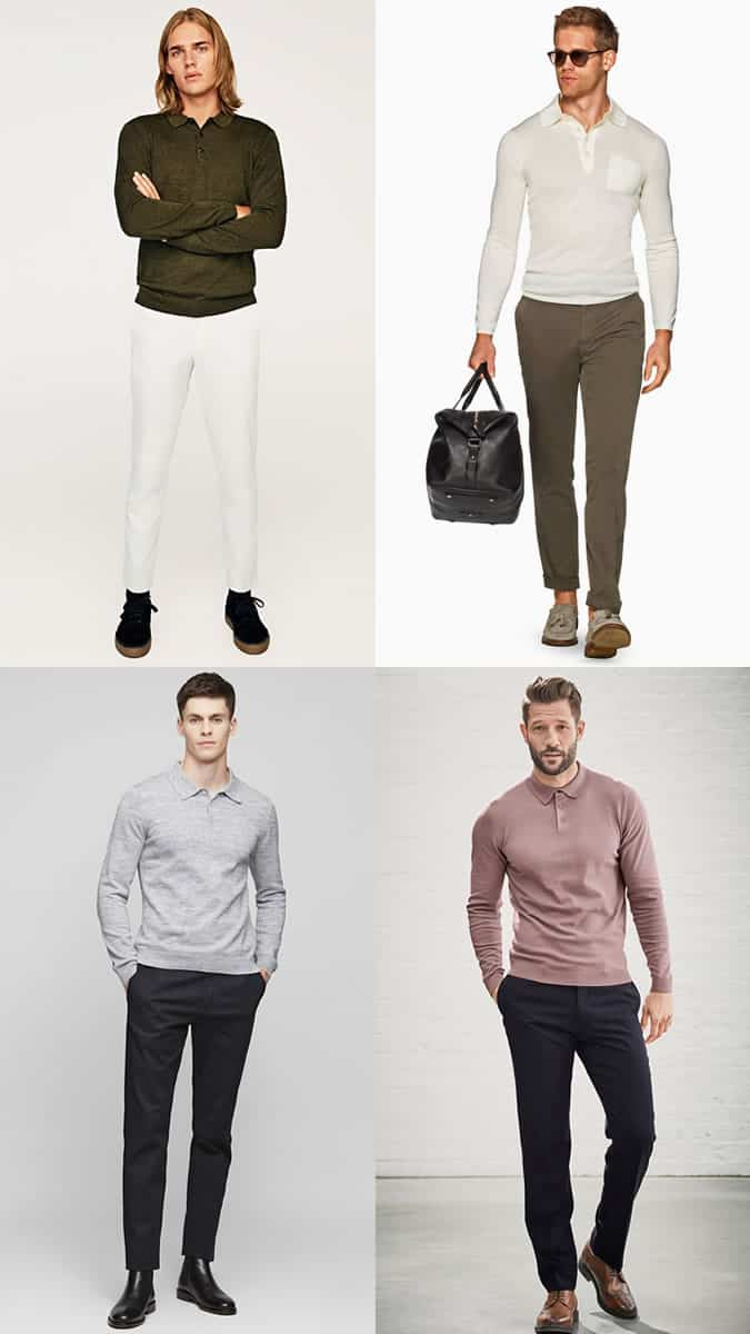 long-sleeve polo shirts for men