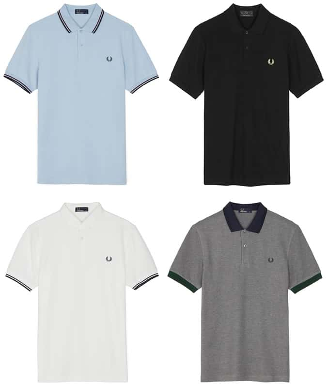 Fred Perry Tipped Polo Shirts