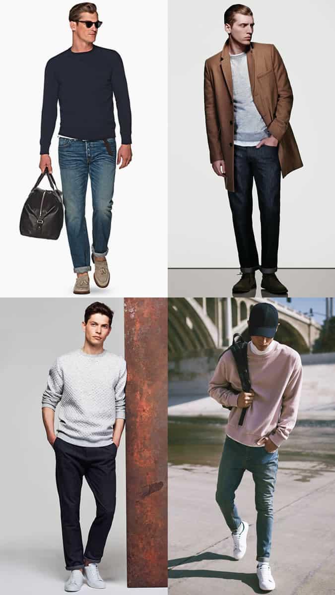 Men's Sweatshirt Outfit Inspiration Lookbook