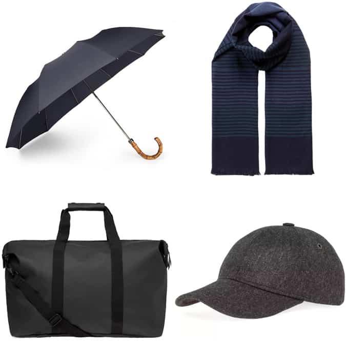 Men's essential rain accessories