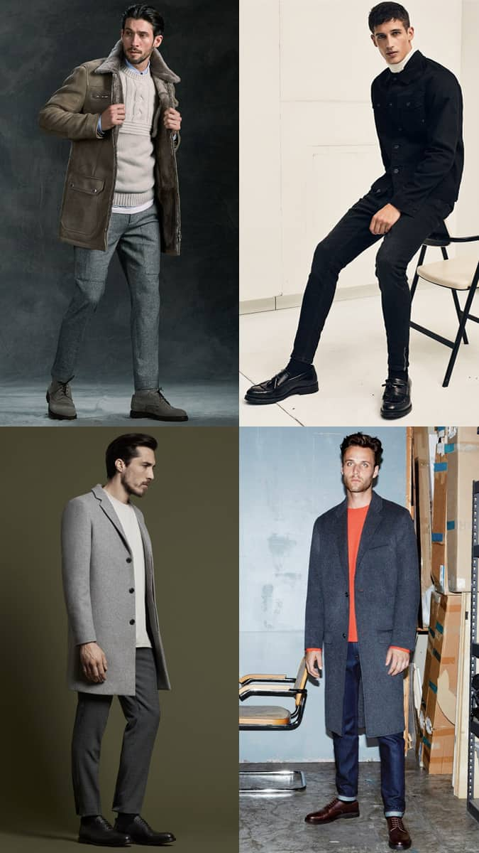 Men's Chunky Sole Shoes Outfit Inspiration Lookbook For Autumn/Winter 2017