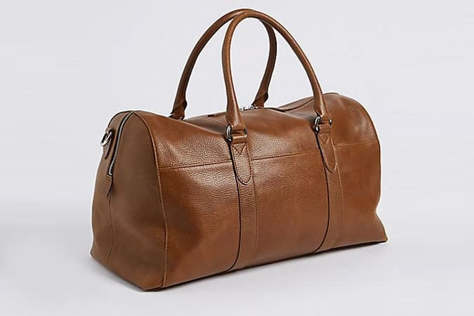 M&S COLLECTION Pebble Grain Leather Holdall