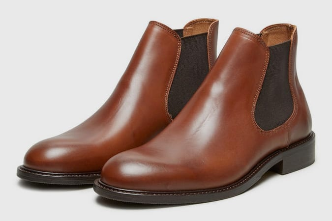 Selected Homm Leather Chelsea Boots