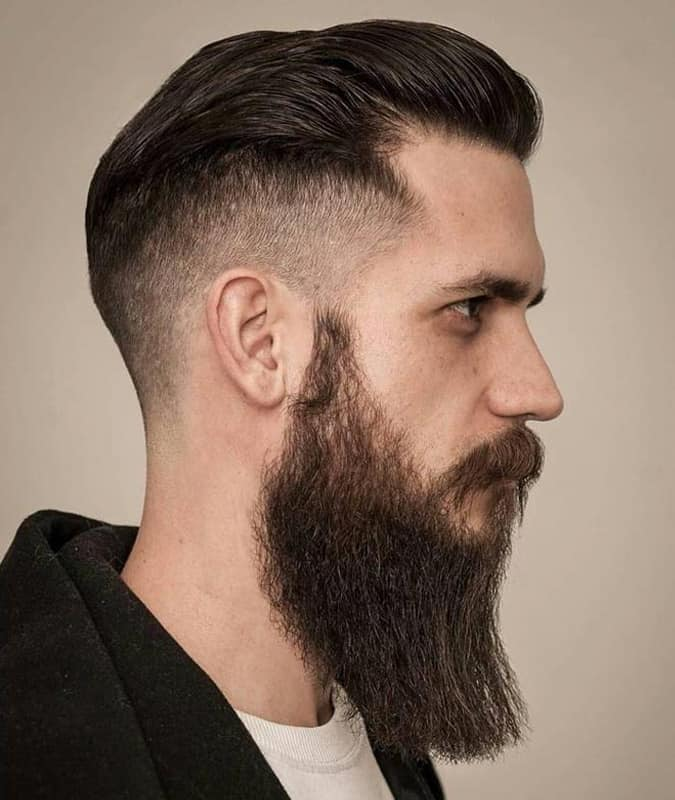 Drop Fade Haircut With Pompadour