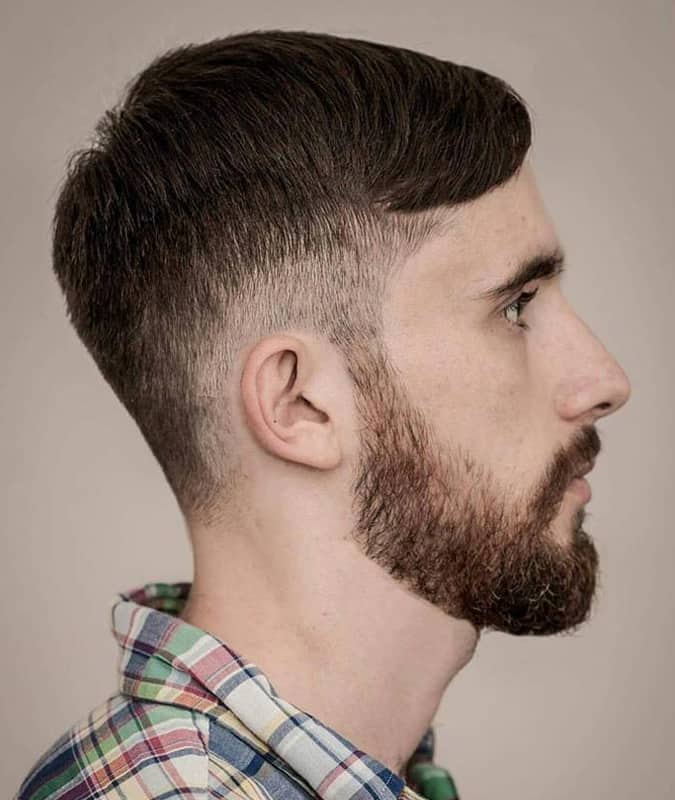 Drop Fade Haircut With Short Side Parting
