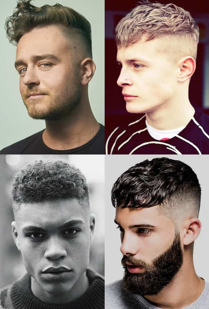 Wavy and curly high and tight haircuts for men