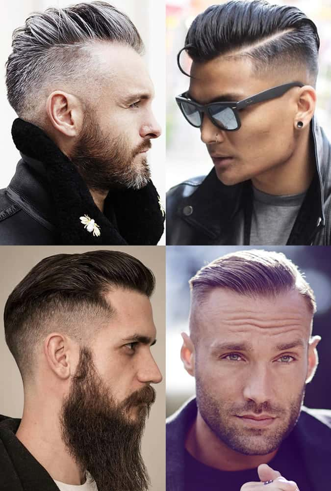 Slicked back high and tight haircuts for men