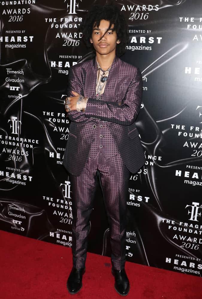 Luka Sabbat Wearing A Purple Suit