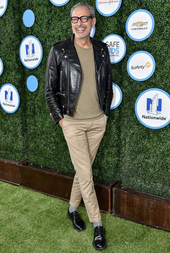 Jeff Goldblum Leather Jacket