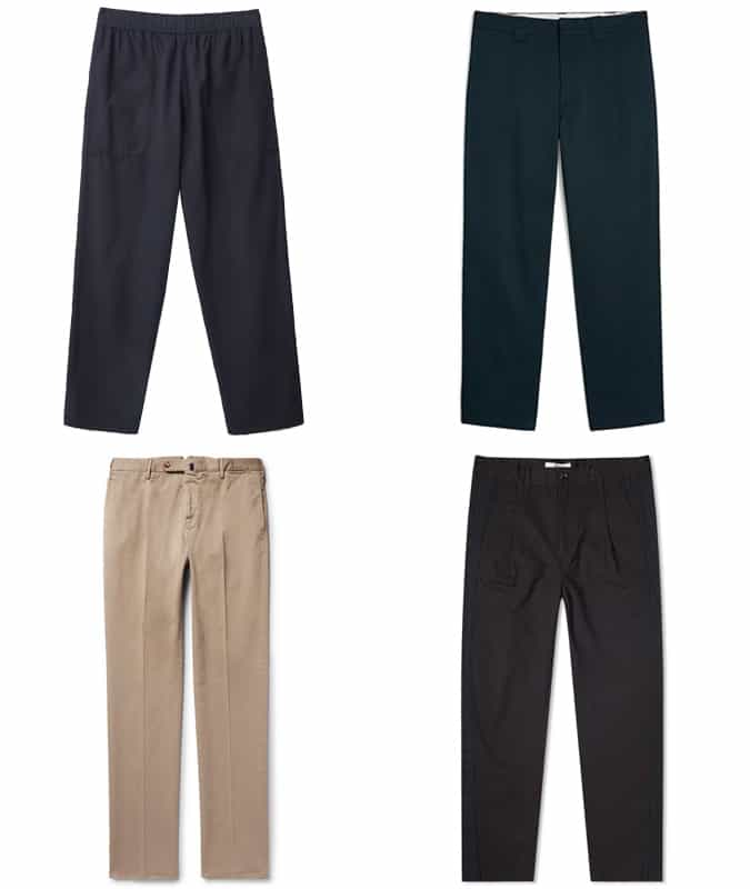 the bets wide-legged trousers for men