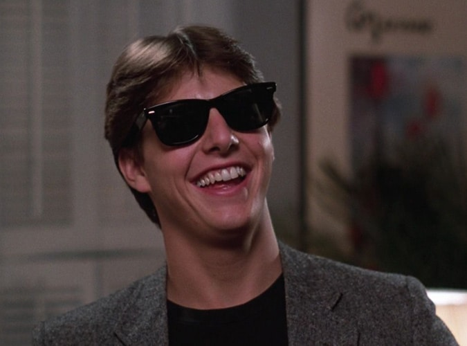 Tom Cruise Wearing Sunglasses In Risky Business