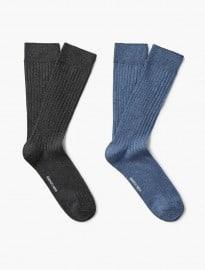 He By Mango 2 Pack Ribbed Socks