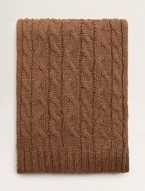 He By Mango Cable-knit Scarf