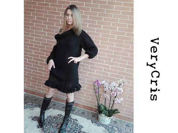 maxi-abito-sweater-mini dress-verycris