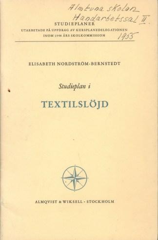 Studieplan i Textilslöjd