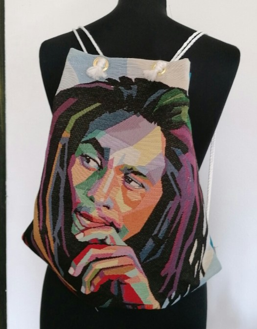 Festival Fashion - Bob Marley string backpack
