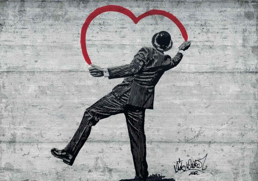 Banksy's graffiti work of art