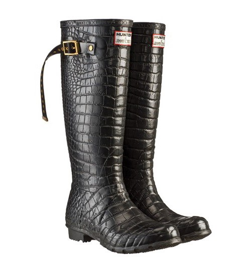 Jimmy Choo - Crocodile print Hunter boots