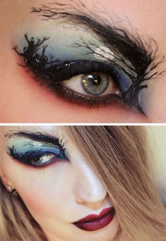 Halloween-Zombie-Eye-Make-Up-Looks-Ideas-For-Girls-2014-9