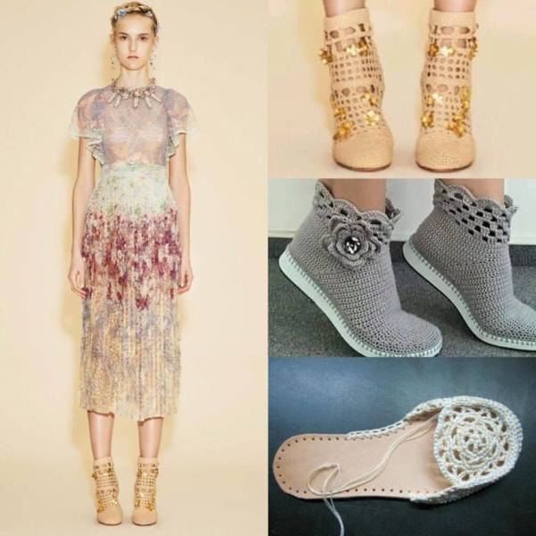 sapatos de crochet shoes _n