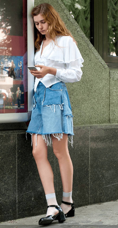 Ksenia Schnaider denim shorts 58