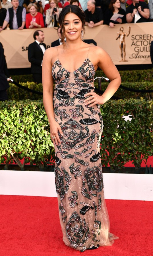 Mandatory Credit: Photo by Rob Latour/REX/Shutterstock (8137126el) Gina Rodriguez The 23rd Annual Screen Actors Guild Awards, Arrivals, Los Angeles, USA - 29 Jan 2017
