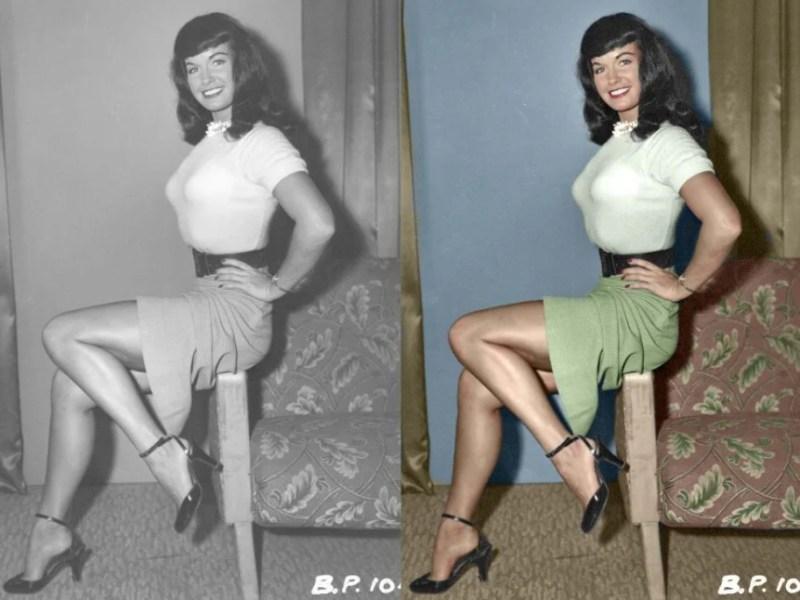 Bettie Page em estilo pin-up.