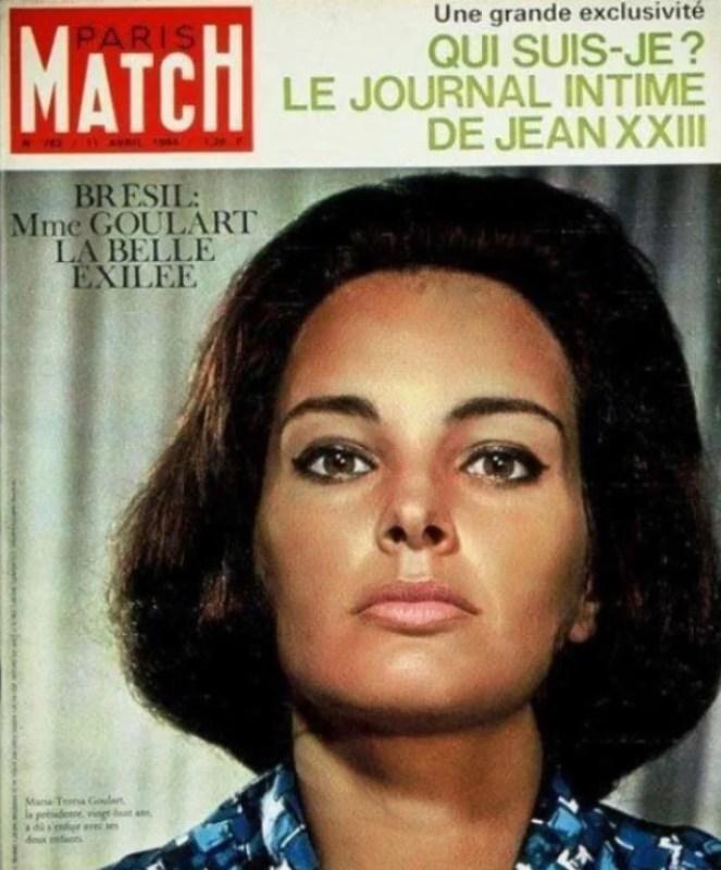Capa da revista Paris Match com Maria Thereza Goulart.