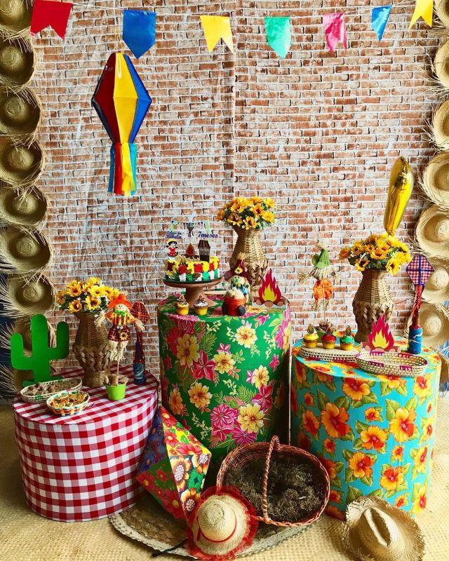 Decoração de festa junina.