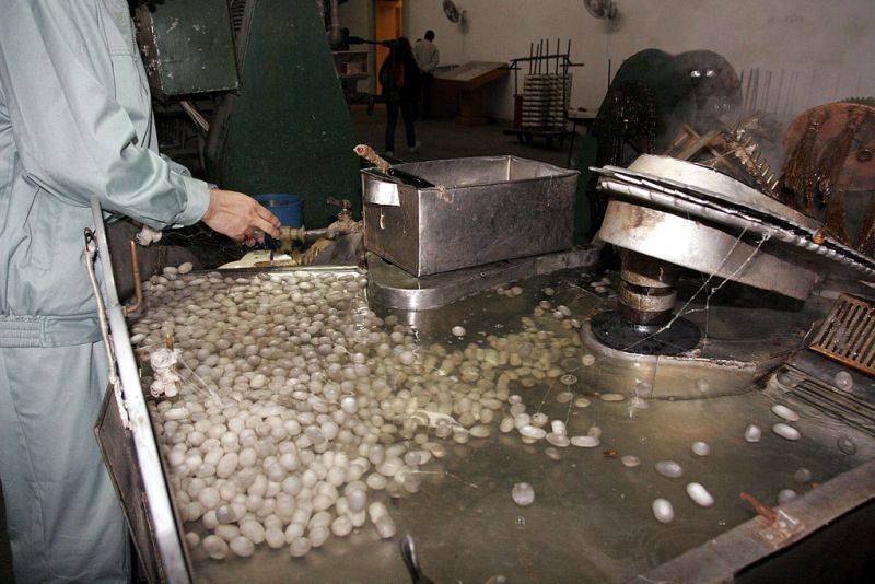 Produção de seda em Suzhou.
