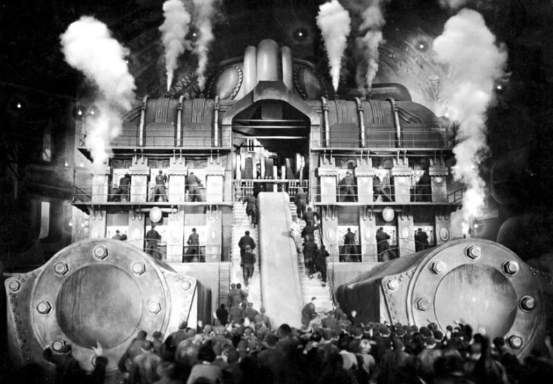 Cena do filme Metrópolis, de 1927.